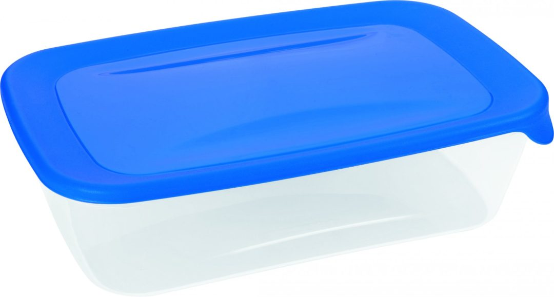 Dóza FRESH & GO 2l průhledná/modrá