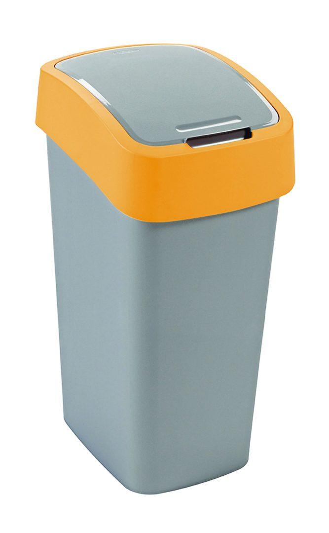 Odpadkový koš FLIP BIN 50l stříbrný/žlutý