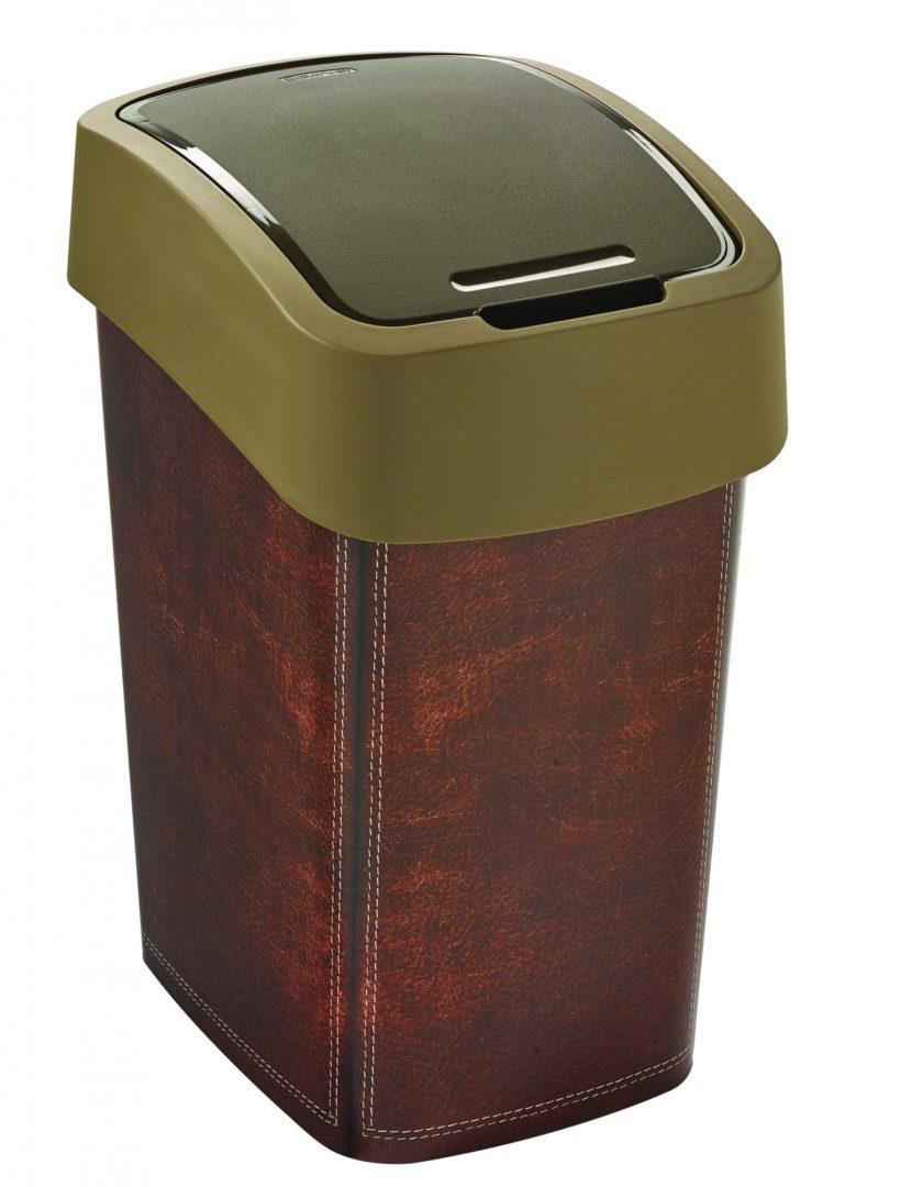 Odpadkový koš FLIP BIN 25l motiv kůže