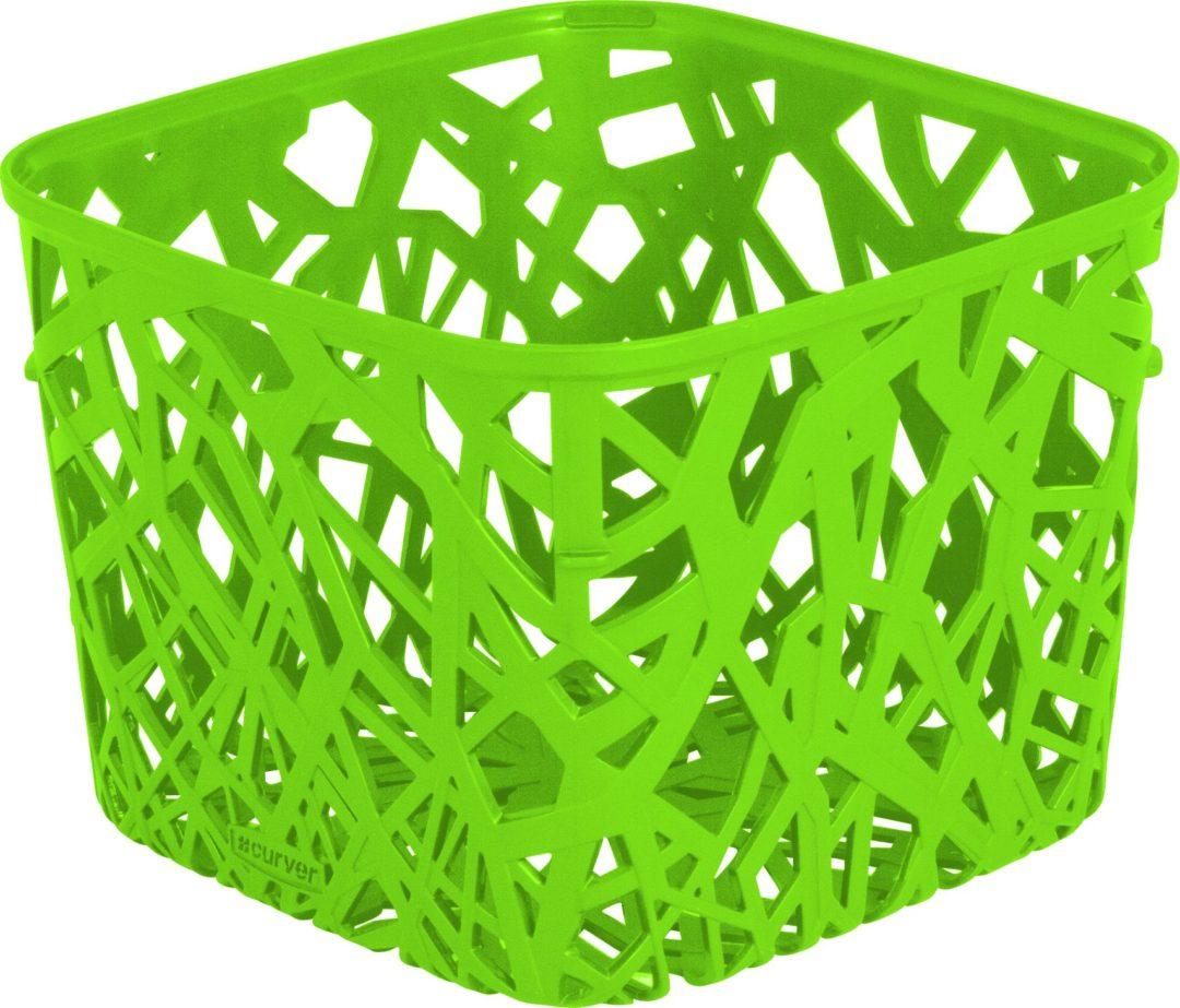 Košík NEO čtvercový zelený