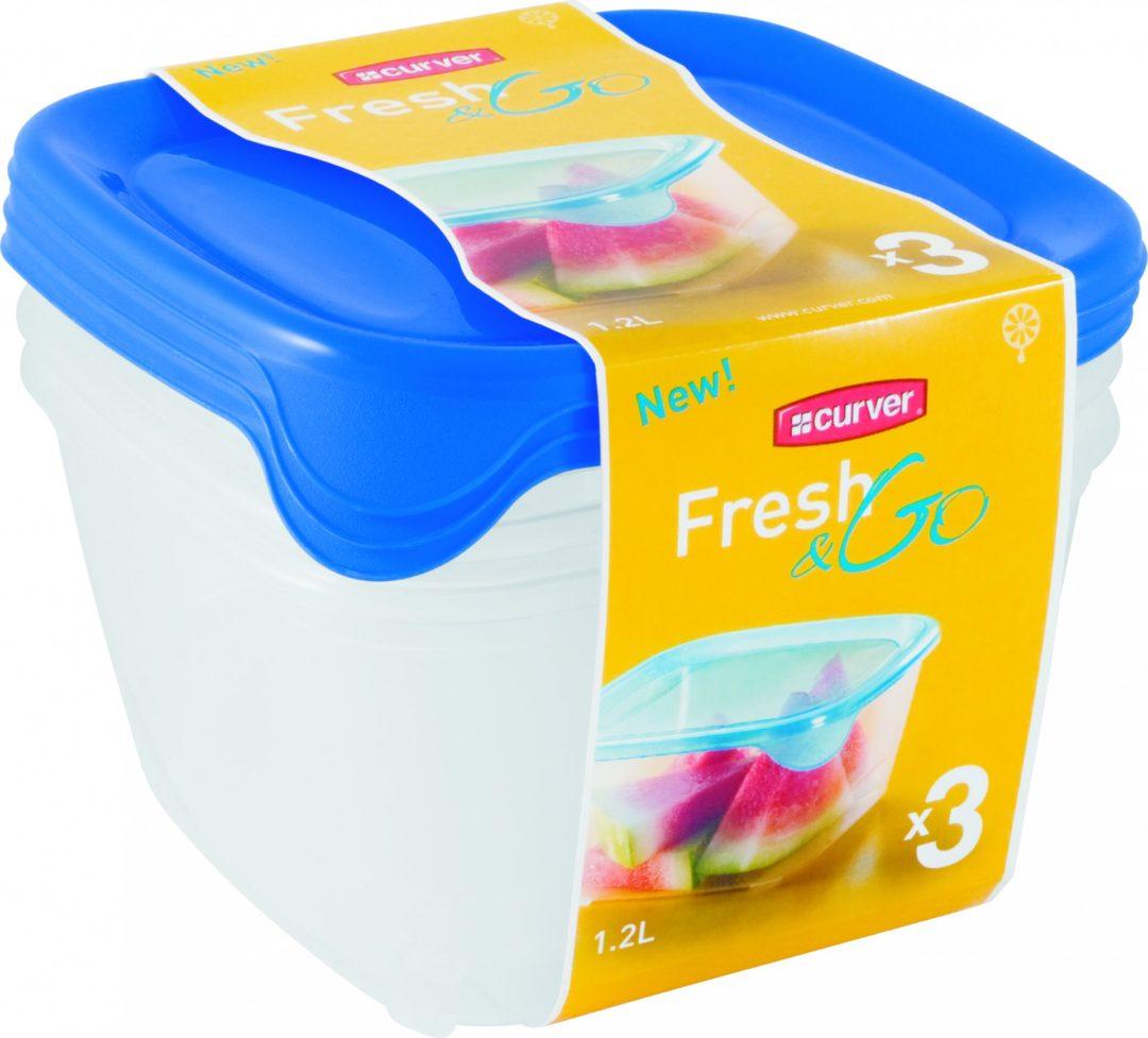 FRESH&GO SET SQR 3x1.2l dózy modré