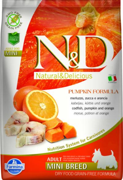 ND Grain Free PUMPKIN 7kg Adult Mini CODFISH [3D_Front]@print