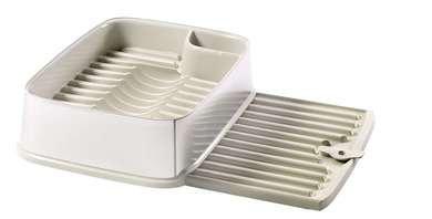 Odkapávač obdelníkový na nádobí - bílý