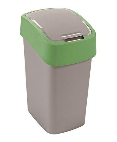 Odpadkový koš FLIP BIN 10l stříbrný/zelený