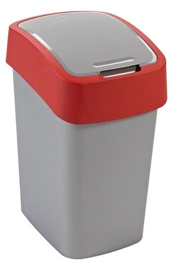 Odpadkový koš FLIP BIN 25l stříbrný/červený