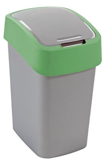 Odpadkový koš FLIP BIN 25l stříbrný/zelený
