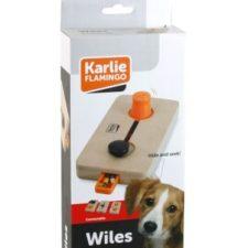Karlie-Flamingo Interaktivní dřevěná hračka WILES 22x12cm