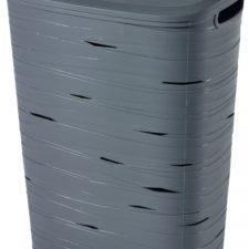 Curver Koš na špinavé prádlo RIBBON 49l šedý