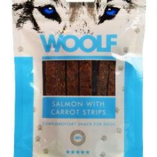 WOOLF pochoutka salmon with carrot strips 100g