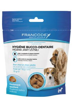 Francodex Pochoutka Breath Dental pes 75g