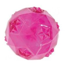 Hračka pes míček TPR POP BALL 6cm růžová Zolux