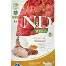 N&D GF Quinoa CAT Skin&Coat Quail & Coconut 1