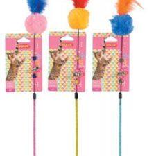 Hračka kočka udice Pompom Fishing mix barev Zolux