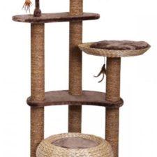 Škrabadlo Estaca - hnědé Nobby 141 cm, průměr 60 cm