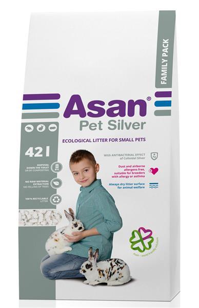 Podestýlka hlod. Asan Pet Silver 42 l
