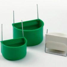 Krmítko/napáječka pták, půlkruh. zelené Duvo+ 5,5 cm
