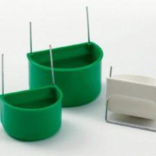 Krmítko/napáječka pták, půlkruh. zelené Duvo+ 7,5 cm