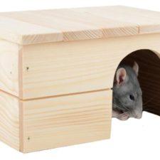 Domek dřevo králík rovná střecha 24 x 18 x 13 cm