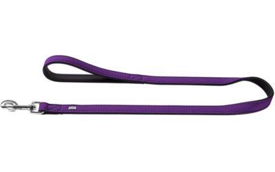 Vodítko um.kůže Softie, fialovo/černé Hunter 1,5 x 110 cm