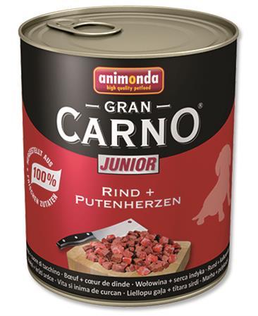 Animonda GranCarno dog konz. Junior- hovězí, krůtí srdce 400 g