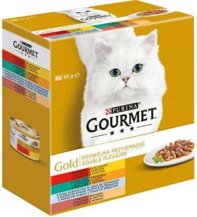 Gourmet Gold cat konz.-gril.k. Mix Multipack 7 + 1 ks zd. x 85 g
