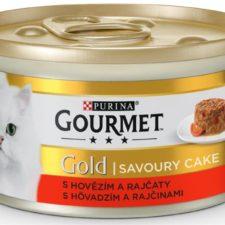 Gourmet Gold cat konz.-Savoury Cake hovězí,rajče 85 g