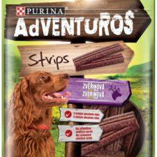 Adventuros snack dog - plátky se zvěřinou 90 g