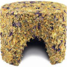 HamStake Domek bylinkový s květy-velký 22x18cm, díra 7,5cm