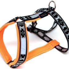 Postroj nylon Run - oranžová ManMat vel.EXL - krk 61-64 cm
