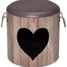 Domek cat D&d Heart hnědý 35x34cm