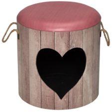 Domek cat D&d Heart růžový 35x34cm