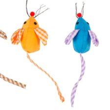 Hračka cat plyš DUVO+ myška s barevnými oušky 2ks