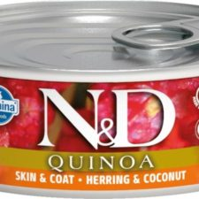 N&D QUINOA Cat konz. Herring & Coconut 80 g