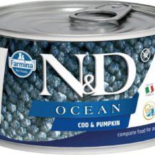 N&D OCEAN Dog konz. Adult Codfish & Pumpkin Mini 140 g