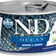 N&D OCEAN Dog konz. Adult Herring & Shrimps Mini 140 g