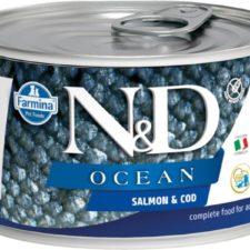 N&D OCEAN Dog konz. Adult Salmon & Codfish Mini 140 g