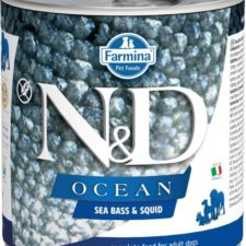 N&D OCEAN Dog konz. Adult Sea Bass & Squid 285 g