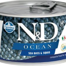 N&D OCEAN Dog konz. Adult Sea Bass & Squid Mini 140 g