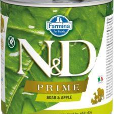 N&D PRIME Dog konz. Adult Boar & Apple 285 g