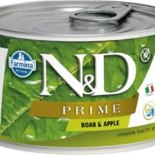 N&D PRIME Dog konz. Adult Boar & Apple Mini 140 g