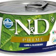 N&D PRIME Dog konz. Adult Lamb & Blueberry Mini 140 g