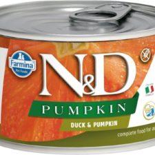 N&D PUMPKIN Dog konz. Adult Duck & Pumpkin Mini 140 g