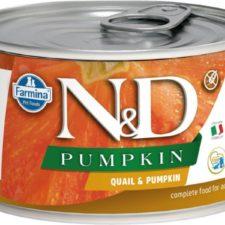N&D PUMPKIN Dog konz. Adult Quail & Pumpkin Mini 140 g