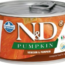 N&D PUMPKIN Dog konz. Adult Venison & Pumpkin Mini 140 g