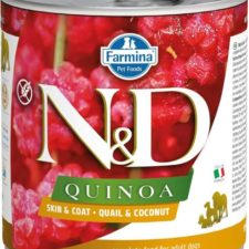 N&D QUINOA Dog konz. Quail & Coconut 285 g
