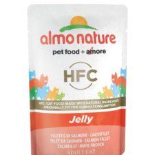 Almo Nature HFC Jelly - Losos v želé 55g výhodné balení 24ks