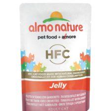 Almo Nature HFC Jelly - Tuňák a krevety v želé 55g výhodné balení 24ks