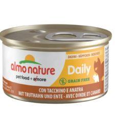 Almo Nature Daily Menu WET CAT - Kousky s krůtou a kachnou 85g výhodné balení 24ks