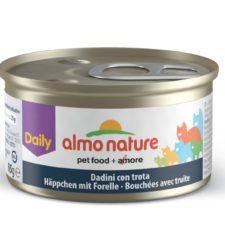 Almo Nature Daily Menu WET CAT - Kousky se pstruhem 85g výhodné balení 24ks
