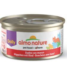 Almo Nature Daily Menu WET CAT - Kousky s hovězím 85g výhodné balení 24ks